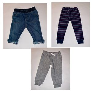 12 month baby boy lot of pants. Gymboree & Carters